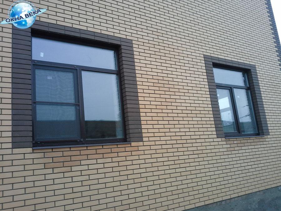 фото тонированные пластиковые окна