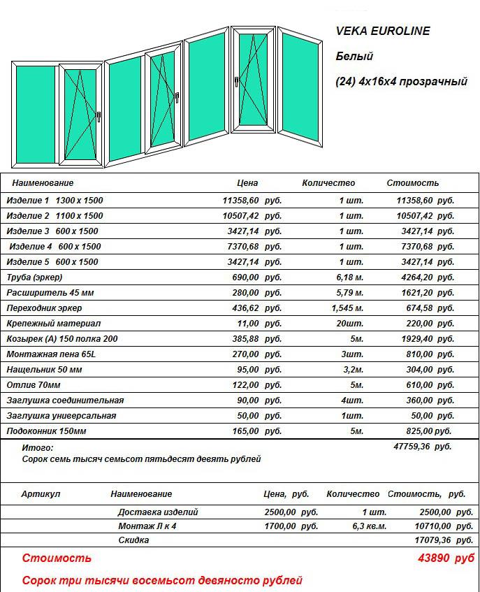 Остекление балконов в домах серии п-3м в москве - цена, расч.